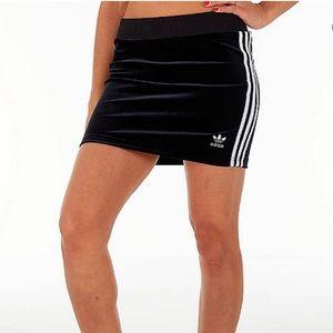 Velour Mini Skirt